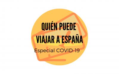 QUIEN PUEDE VIAJAR A ESPAÑA