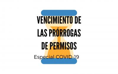 VENCIMIENTO DE LAS PRORROGAS AUTOMÁTICAS DE PERMISOS DE RESIDENCIA POR COVID-19